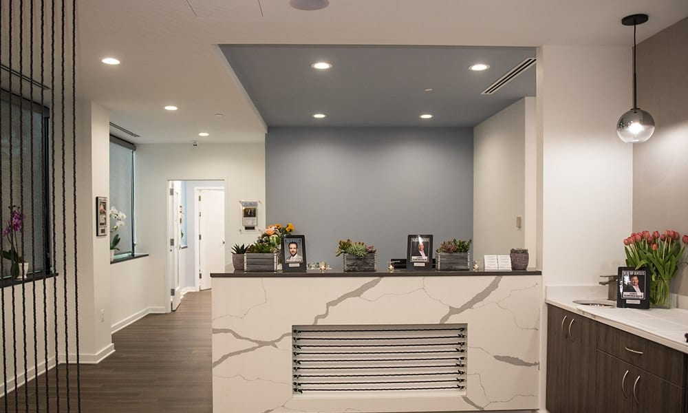Modern Minimalistic Reception Area at Reston Facial Surgery Center