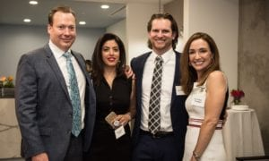 Dr Gocke and Dr Bowler With Two Woman At Dinner Reception