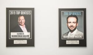Plaques Of Dr Gocke And Dr Vigliante As 2019 Top Dentists Featured In Washingtonian Magazine